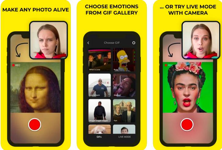 Capture d'écran Avatarify iOS