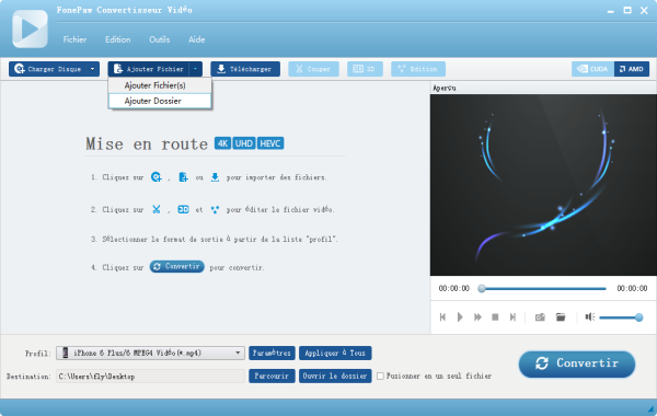 Capture d'écran FonePaw Convertisseur Vidéo pour Mac