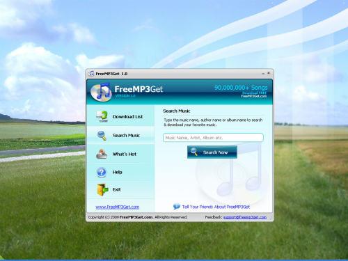 Capture d'écran FreeMP3Get