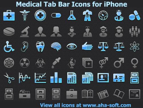 Capture d'écran Medical Tab Bar Icons for iPhone