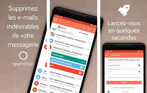 Capture d'écran Spamdrain iOS