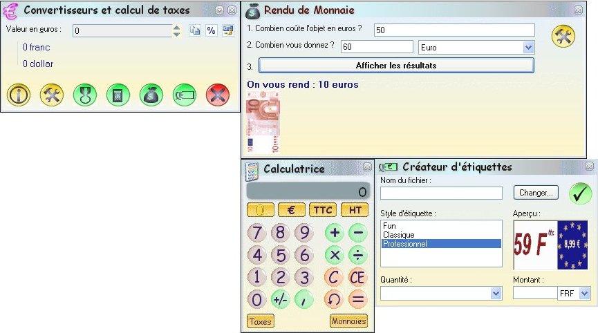 Capture d'écran EuroFranc