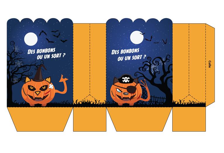 Capture d'écran Pochette carte cadeau Halloween