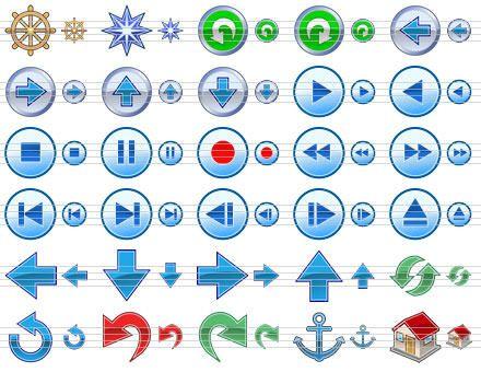 Capture d'écran Navigation Toolbar Icons