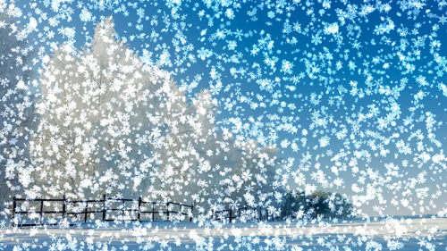 Capture d'écran Snowy Desktop 3D Screensaver