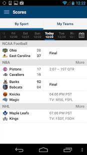 Capture d'écran FOX Sports Mobile
