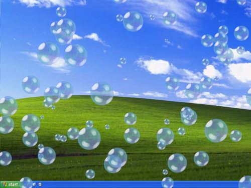 Capture d'écran EIPC Bubbles 3D Screensaver