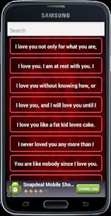 Capture d'écran Love Romantic SMS Messages
