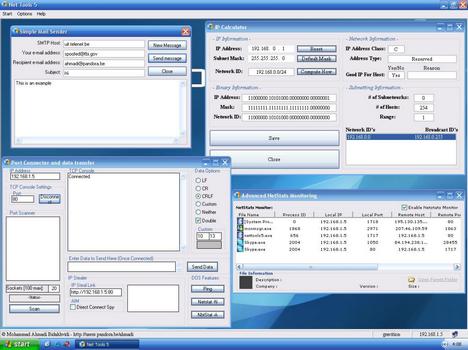 Capture d'écran Net Tools