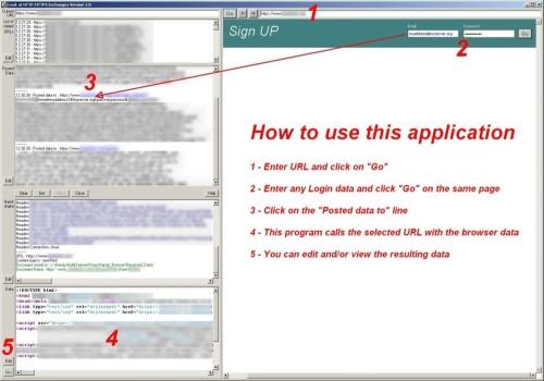 Capture d'écran Handy Look At HTTP-HTTPS pour Windows