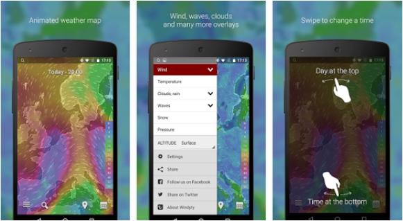 Capture d'écran Windyty Android