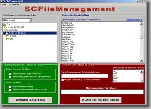 Capture d'écran SC FileManagement