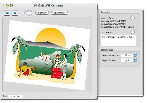 Capture d'écran iWinSoft WMF Converter for Mac