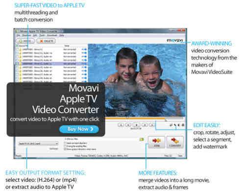 Capture d'écran Movavi Apple TV Video Converter