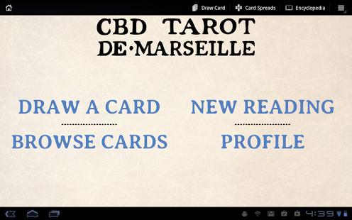 Capture d'écran CBD Tarot de Marseille