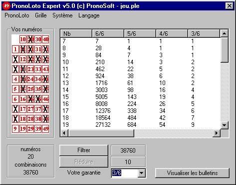 Capture d'écran PronoLoto Expert