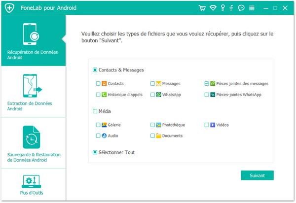Capture d'écran Aiseesoft FoneLab pour Android