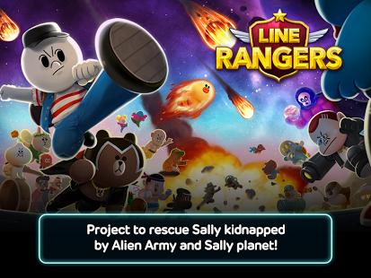 Capture d'écran LINE Rangers