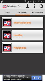 Capture d'écran Television Dominicana