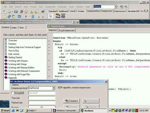 Capture d'écran Easy Compression Library