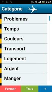 Capture d'écran Guide linguistique anglais