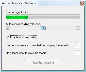 Capture d'écran Audio Detector