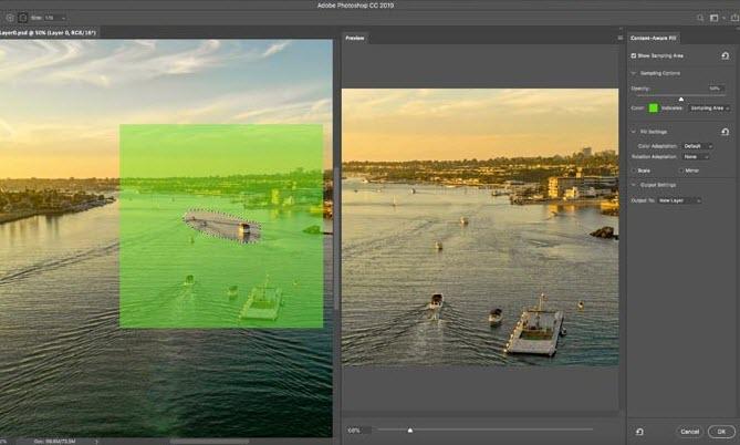 Capture d'écran Adobe Photoshop CC