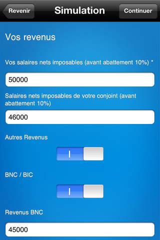 Capture d'écran iSimu iOS