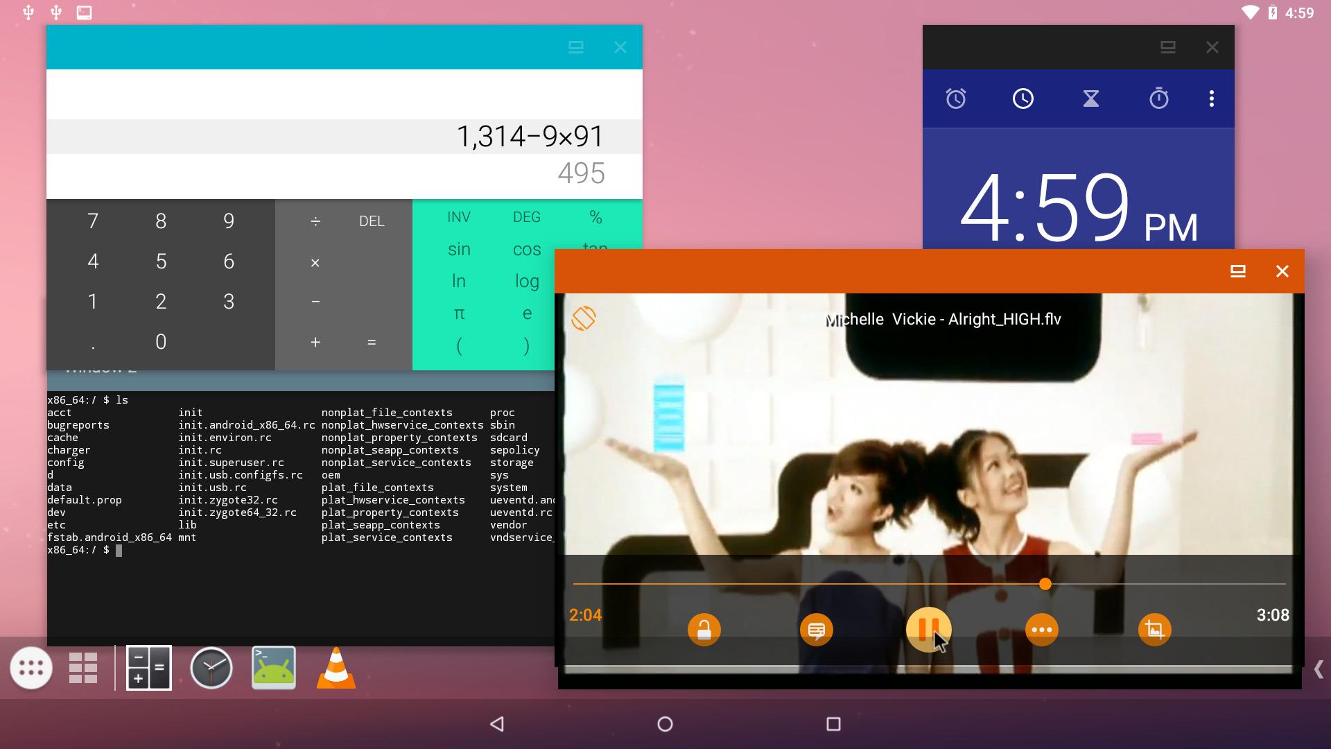 Capture d'écran android-x86