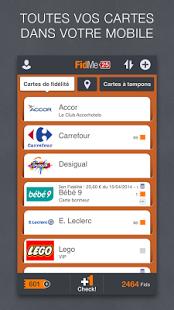 Capture d'écran FidMe – Cartes de fidélité