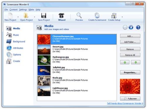 Capture d'écran Screensaver Wonder 6
