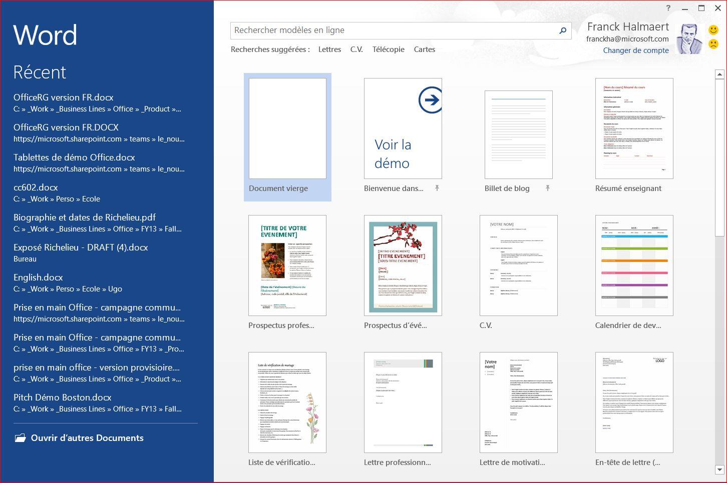 Capture d'écran Microsoft Office Famille et Petite Entreprise 2016