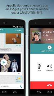 Capture d'écran Wiper : textos/appels privés