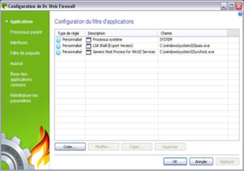 Capture d'écran Dr.Web Security Space