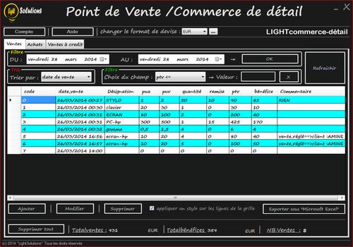 Capture d'écran LIGHTcommerce-detail