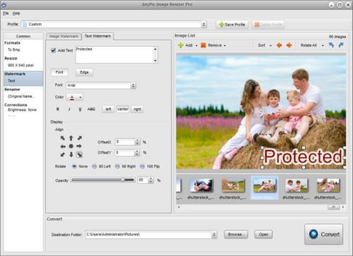 Capture d'écran AnyPic Image Resizer Pro