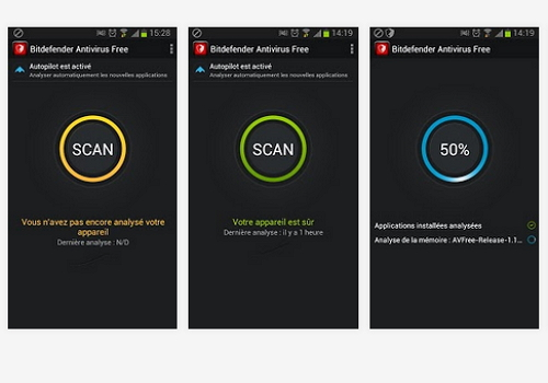 Capture d'écran Bitdefender Antivirus Free Android