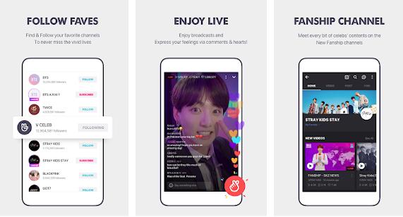 Capture d'écran V LIVE iOS