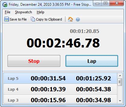 Capture d'écran Free Stopwatch