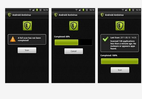 Capture d'écran Android Antivirus