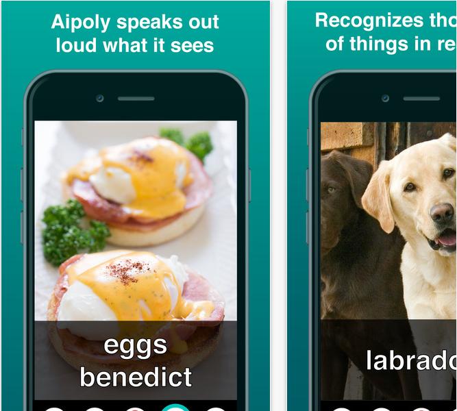 Capture d'écran Aipoly Vision iOS
