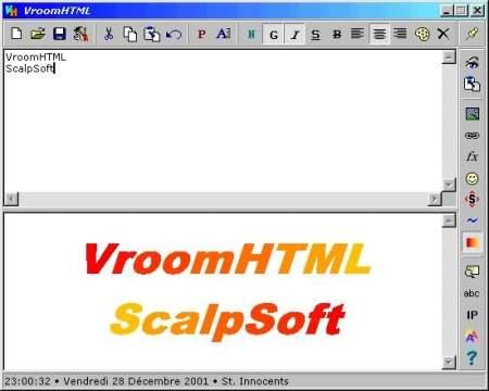 Capture d'écran VroomHTML