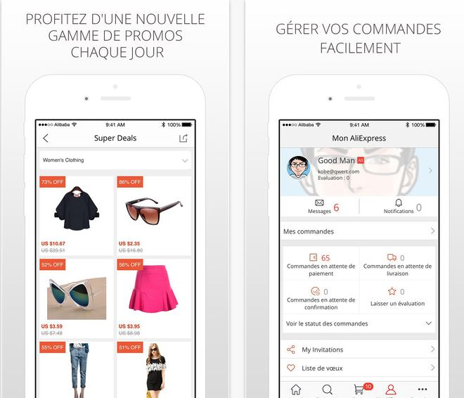 Capture d'écran AliExpress Shopping App ios