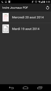 Capture d'écran Abidjan News PDF