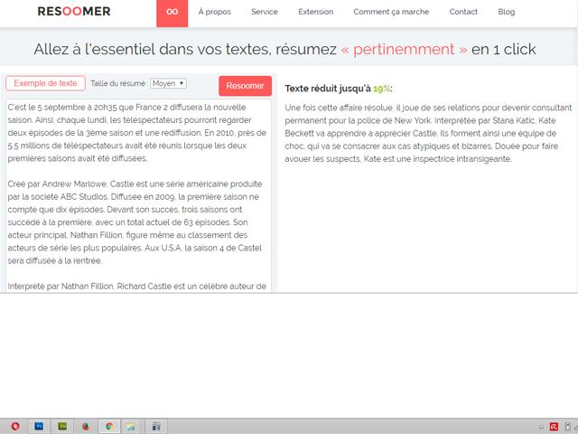 Capture d'écran Resoomer