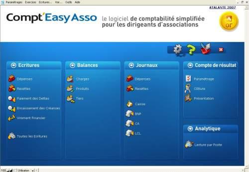 Capture d'écran Compt'Easy Asso Or v.PC