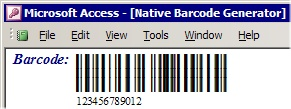 Capture d'écran Barcode Generator for Microsoft Access