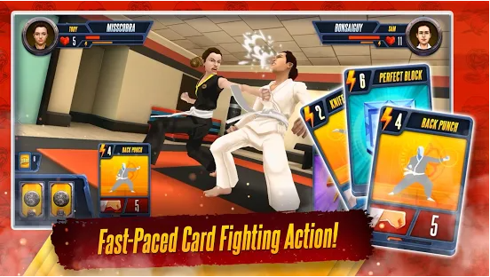 Capture d'écran Cobra Kai: Card Fighter