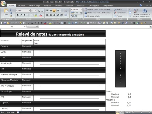 Capture d'écran Test d'intelligence