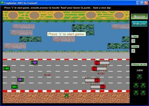 Capture d'écran FrogManiac